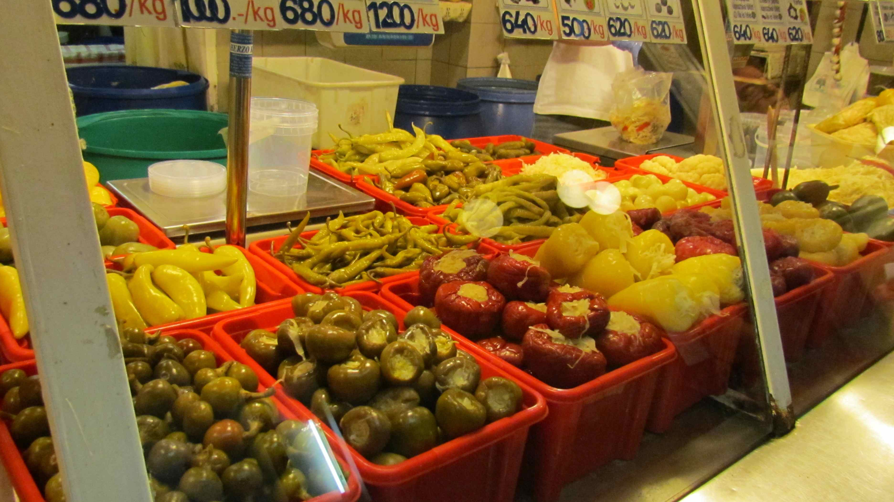 Covered market Budapest Hungary
