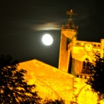 Just past full moon