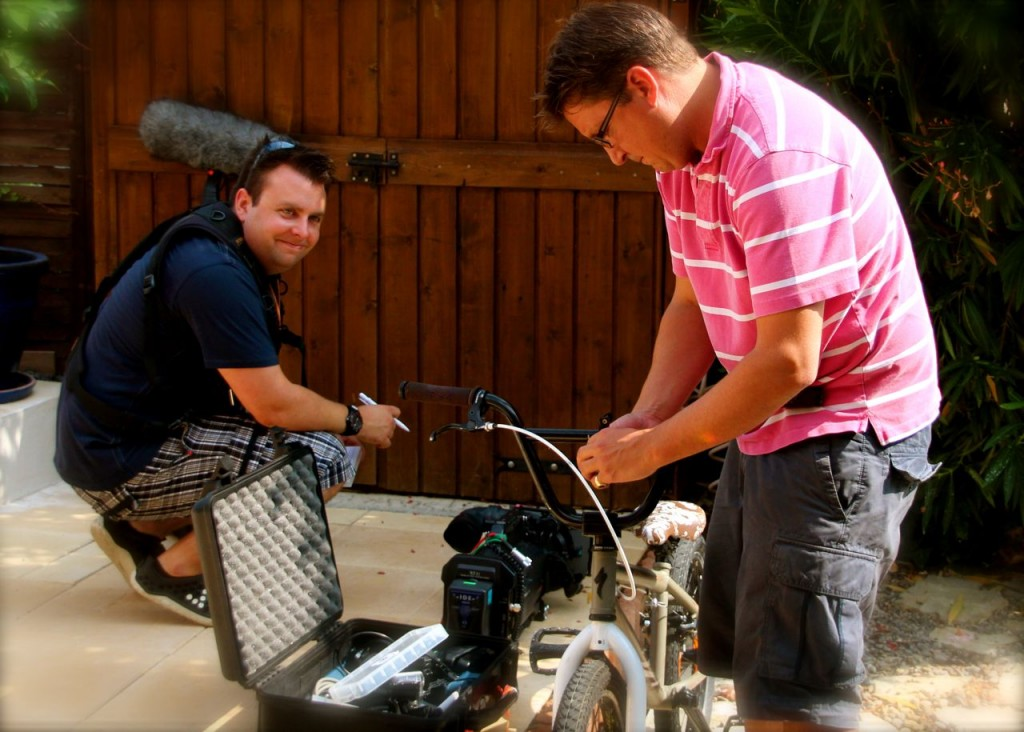 Jeremy & Ed set up a GoPro for Daniel's bike to show his delivery service