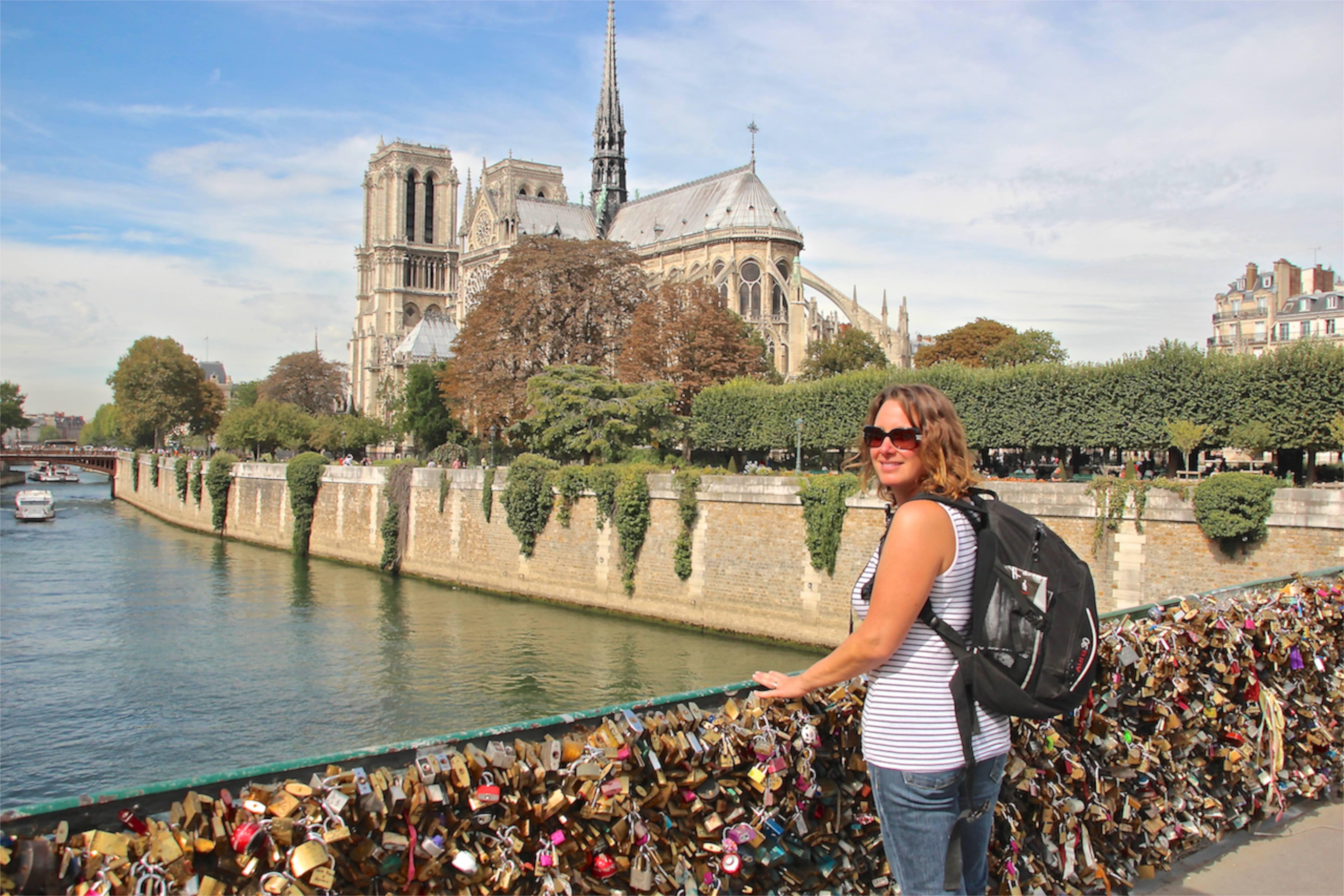 Lock love bridge Paris