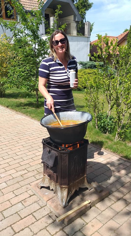 Eva cooking during quarantine